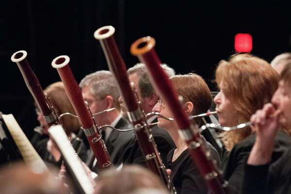Ridgefield Symphony Orchestra bassoon players perform in a concert.