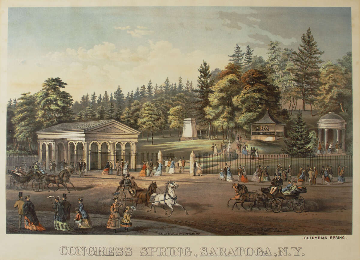 Congress Spring, Saratoga Springs, N.Y Hatch & Co., 111 Broadway, N.Y c.1875 Chromo Lithograph, Albany Institute of History &; Art, Gift of FleetBoston Financial Corporation, 2000.