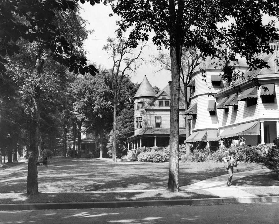 View of homes along upper Broadway  on Aug. 3, 1946, in Saratoga Springs, N.Y. Click through the slideshow to see Saratoga Springs through the years.  (Times Union Archive)
