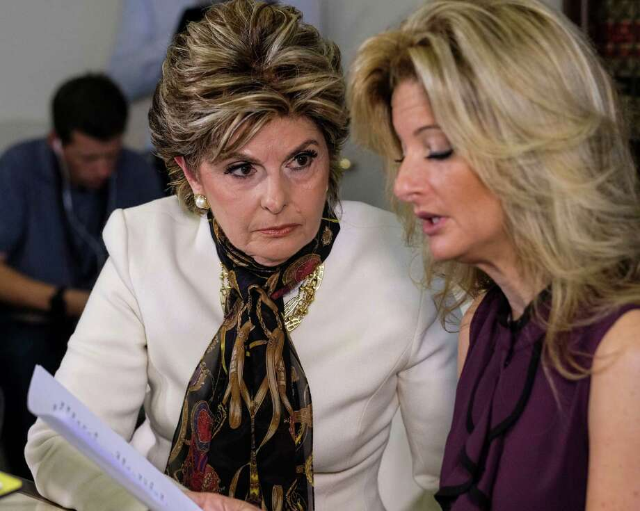 "Accompanied by her attorney, Gloria Allred, one-time ""The Apprentice"" contestant Summer Zervos, right, said Friday in Los Angeles that Donald Trump called her his ""O.C. angel."" (Photo: AP Photo / Ringo H.W. Chiu) Photo: Ringo H.W. Chiu, FRE / FR170512 AP"