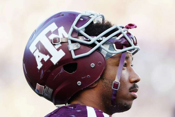 Myles Garrett of the Texas A&M Aggies waits near the bench in the second half of their game against the Tennessee Volunteers at Kyle Field on Oct. 8, 2016 in College Station.