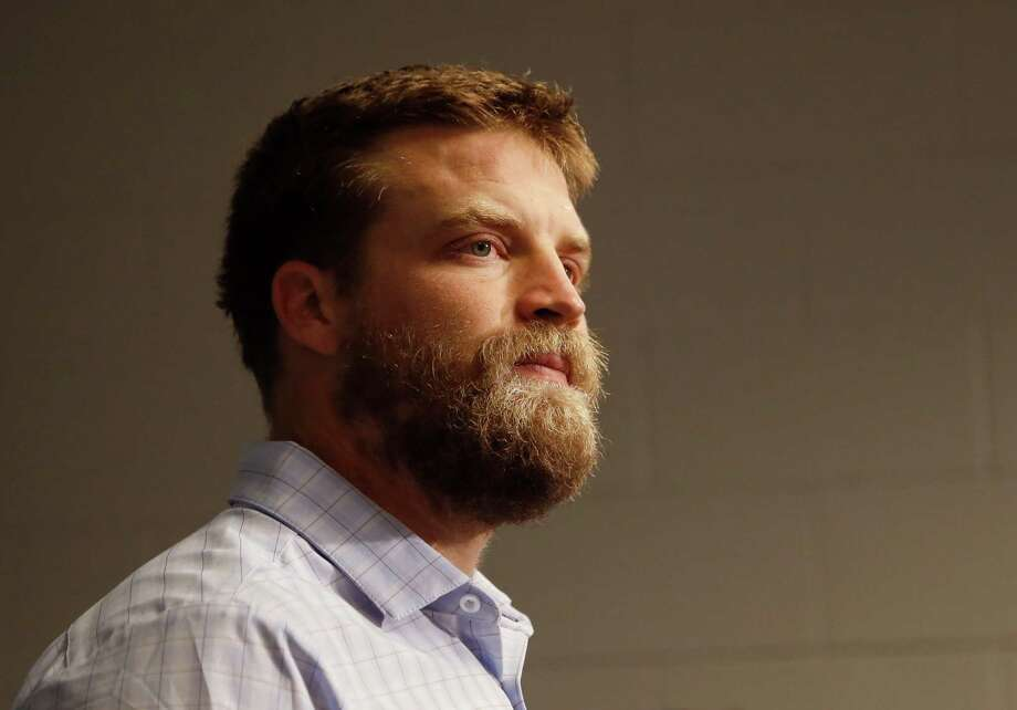 New York Jets quarterback Ryan Fitzpatrick speaks after an NFL football game against the Arizona Cardinals, Monday, Oct. 17, 2016, in Glendale, Ariz.  The Cardinals won 28-3. (AP Photo/Ross D. Franklin) Photo: Ross D. Franklin, STF / AP