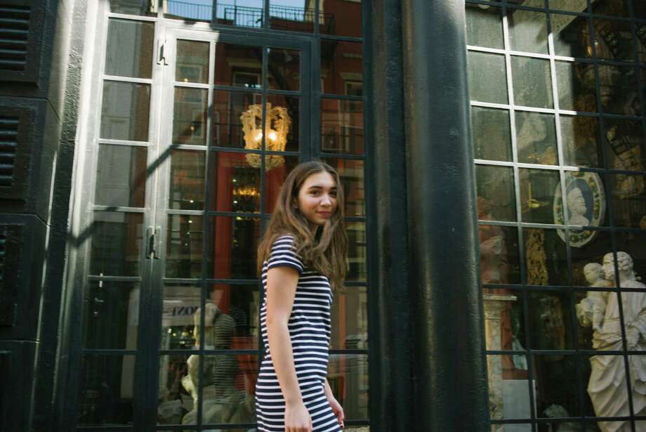 """Rowan Blanchard, of the Disney Channel's """"Girl Meets World,"""" in New York, Sept. 12, 2016. Blanchard takes to social media to showcase herself as quirky, politically aware and a feminist. (Ben Rayner/The New York Times) Photo: BEN RAYNER, STR / NYTNS"""