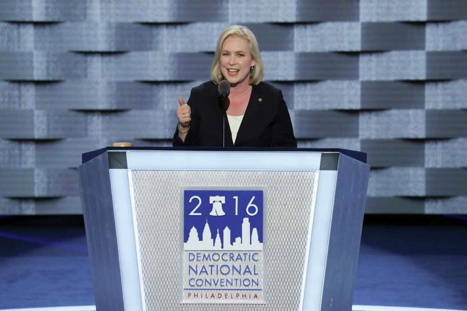 Sen. Kirsten Gillibrand (D-N.Y.) speaks at the Wells Fargo Center on the first day of the Democratic National Convention in Philadelphia, July 25, 2016. (Jim Wilson/The New York Times) ORG XMIT: XNYT310 Photo: JIM WILSON / NYTNS