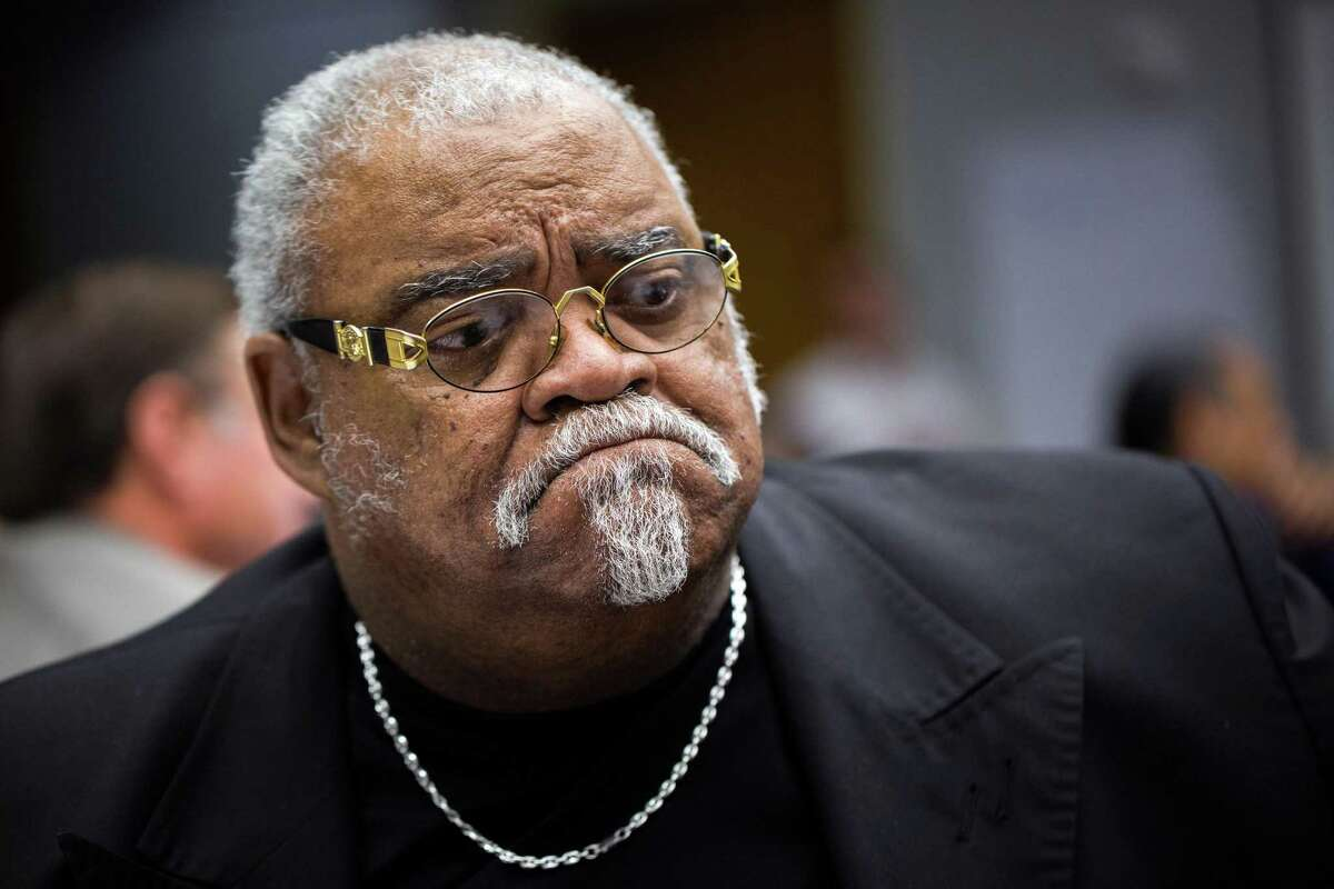 Pastor Jerry William Dailey listens during a meeting in October of the Mayor's Council on Police-Community Relations.