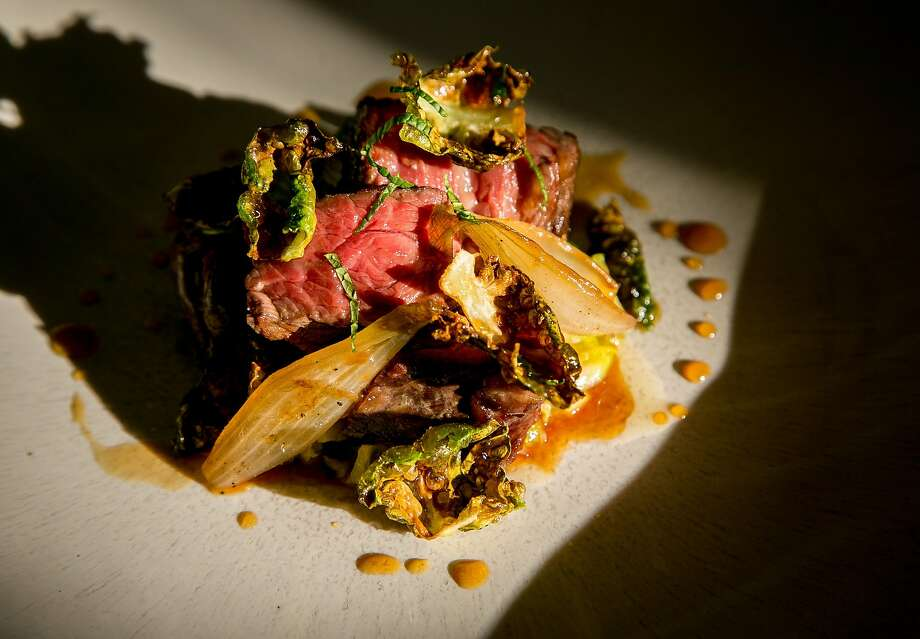 Beef, Brussels sprouts and fish sauce at Nightbird in S.F. Photo: John Storey, Special To The Chronicle