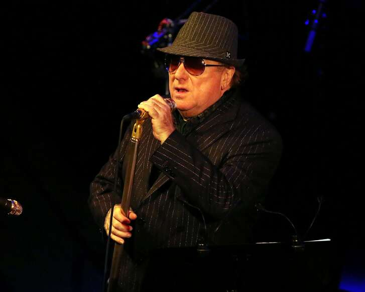 Van Morrison performs inside the Miner Auditorium at the SFJAZZ Center on Tuesday, October 18, 2016.