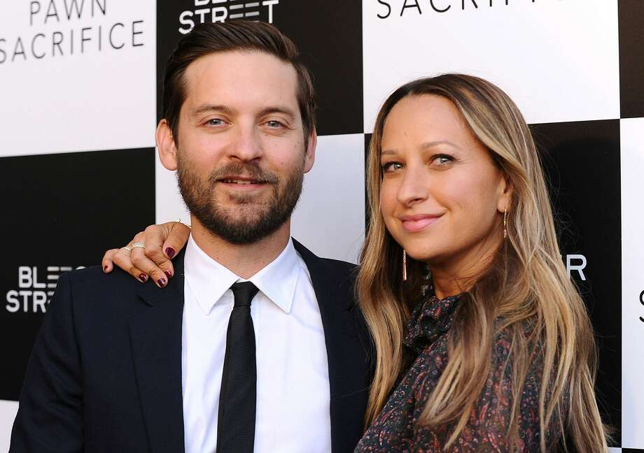 "Actor Tobey Maguire and wife Jennifer Meyer attend the premiere of ""Pawn Sacrifice"" at Harmony Gold Theatre on September 8, 2015 in Los Angeles, California. Take a look back at some surprising (and maybe not-so-surprising) celebrity splits.  Photo: Jason LaVeris/FilmMagic"