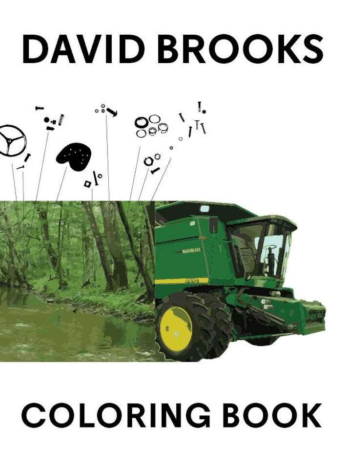 The cover of a coloring book created by artist David Brooks. Photo: Contributed Photo / Contributed Photo