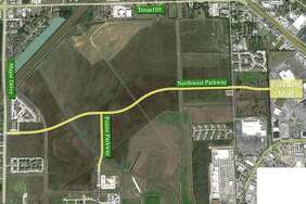 The City of Beaumont approved the contract Tuesday allowing for construction to begin on the Northwest Parkway by end of this year. The new road is expected to connect Major drive to the Parkdale Mall loop and boost development in the area. Map provided by City of Beaumont