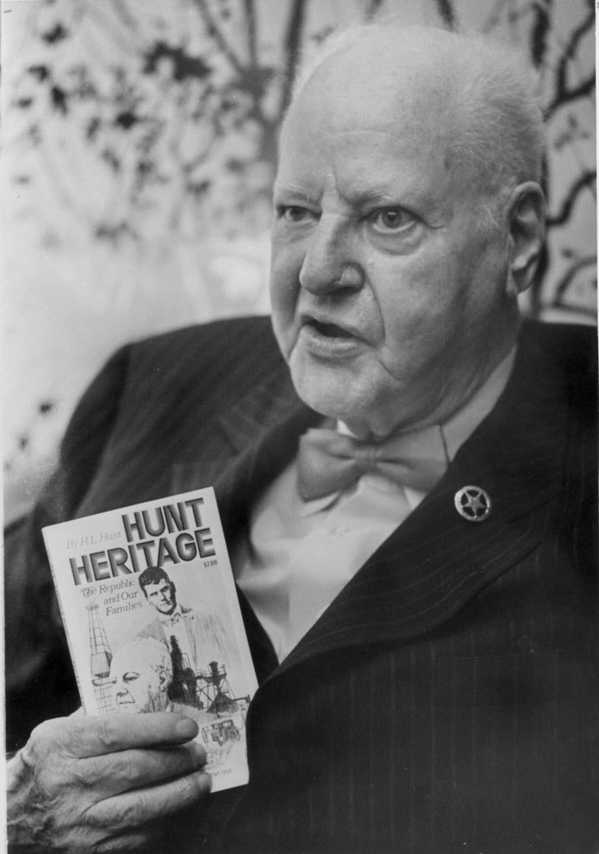 Dallas oil billionaire, H.L. Hunt, promotes his book, 'The Hunt Heritage', June 14, 1973. Texas Supreme Court is examining the $48,000 an hour legal fee in the H.L. Hunt case. See the most watched court trials in the following gallery.