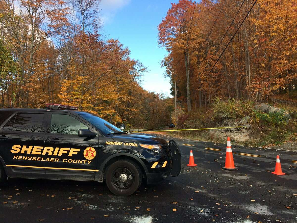 The Rensselaer County Sheriff's Office is investigating a man's body found Tuesday, Oct. 18, 2016, in Brunswick. (Emily Masters/Times Union)