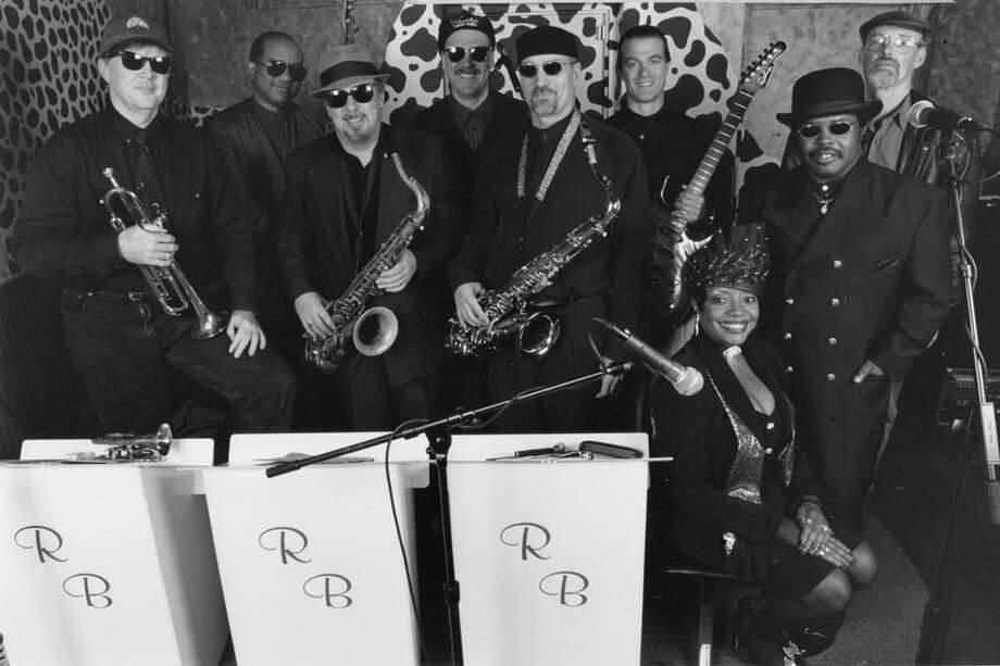 Members of the most recent line up of The Romero Brothers from left to right: Chris McLoughlin (Trumpet), Kevin Hill (Bass), Tom Baker (Sax), Steve Townsend (Drums), Pete deLisser (Sax), John Cain (Guitar), Jeannie Gregory (Vocals), Haywood Gregory (Guitar and Vocals) and Greg DeTroy (Keyboards). The band and other old members will perform at The Goose in Darien, CT on Oct. 22. Photo: Contributed Photo / Contributed Photo / Darien News