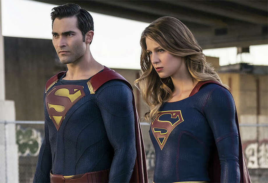 Tyler Hoechlin and Melissa Benoist, Supergirl | Photo Credits: Robert Falconer/The CW