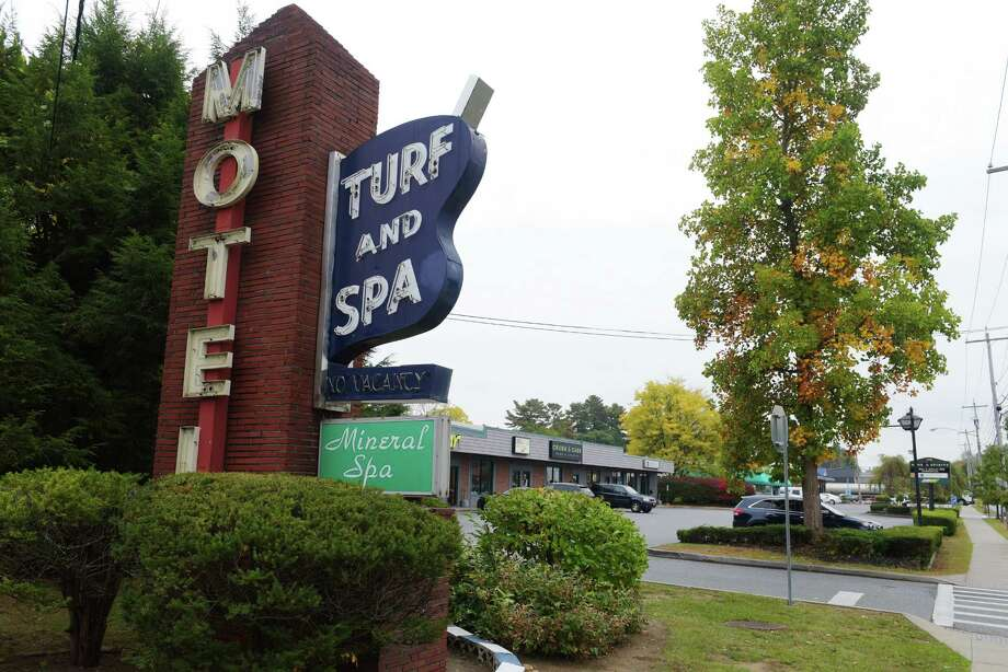 A view of the Turf and Spa Motel on Broadway and the retail shops near it on Monday, October 17, 2016, in Saratoga Springs, N.Y.   (Paul Buckowski / Times Union) Click through to see a gallery of Saratoga through the years. Photo: PAUL BUCKOWSKI / 20038414A