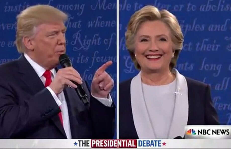 Donald Trump and Hillary Clinton squared off during the second presidential debate.