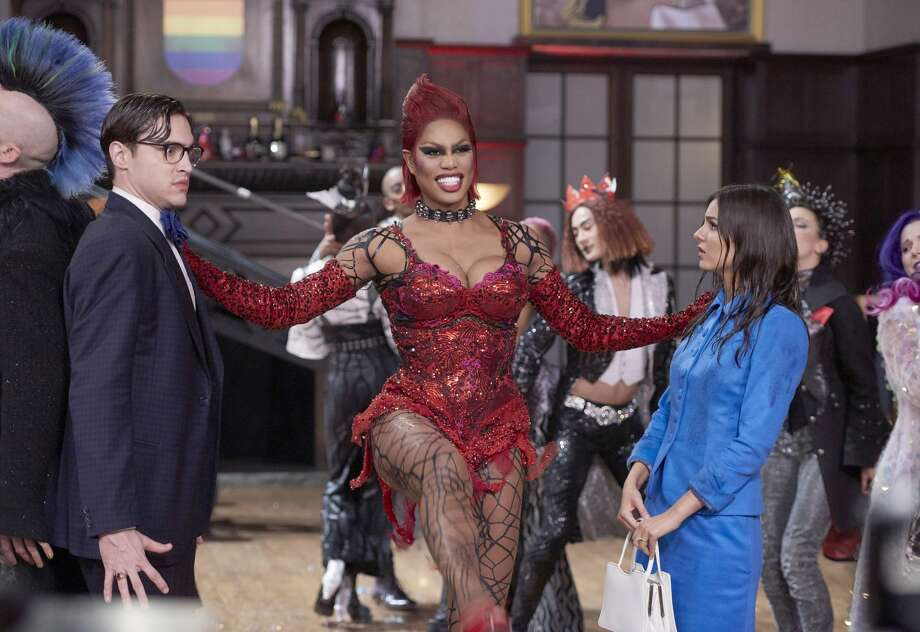 "Laverne Cox, center, as Dr. Frank-N-Furter, is the highlight of Fox's lackluster remake of ""The Rocky Horror Picture Show.""  Photo: Steve Wilkie/Fox"
