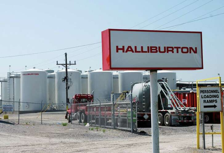 Halliburton offered an improved outlook on North American oil field activity Wednesday, posting a tiny quarterly profit that showed continued drag from a petroleum industry downturn. The U.S. oil services giant, a player in the hydraulic fracturing behind the US shale boom, said North American activity improved in the third quarter with a higher rig count as oil prices stabilized.