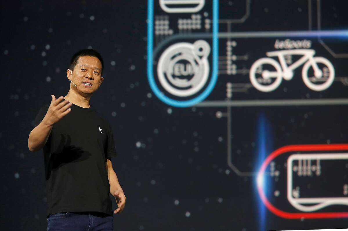 LeEco founder and CEO Yueting Jia announces new products on Wednesday, October 19,2016, in San Francisco, Calif.