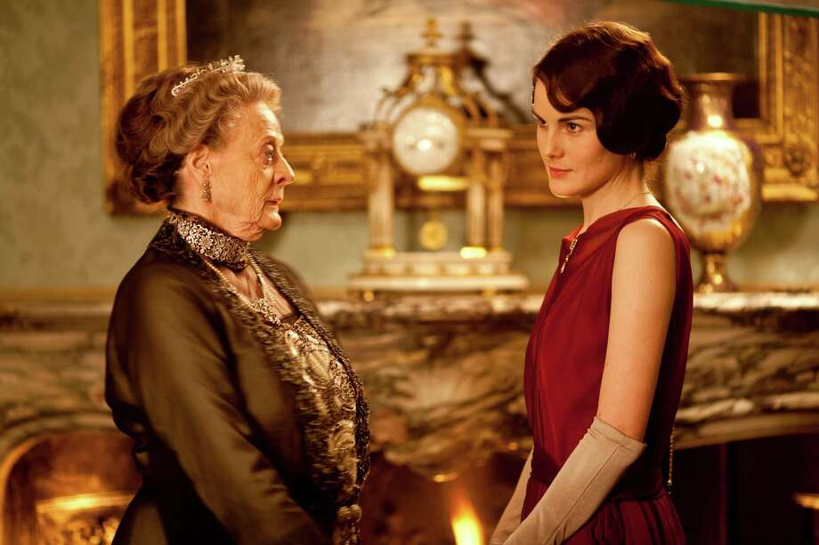 Downton Abbey Season 3 Sundays, January 6 - February 17, 2013 on MASTERPIECE on PBS  From left to right: Maggie Smith as the Dowager Countess and Michelle Dockery as Lady Mary  c. Carnival Film & Television Limited 2012 for MASTERPIECE This image may be used only in the direct promotion of MASTERPIECE CLASSIC. No other rights are granted. All rights are reserved. Editorial use only. USE ON THIRD PARTY SITES SUCH AS FACEBOOK AND TWITTER IS NOT ALLOWED. Photo: Nick Briggs / © Carnival Film & Television Limited