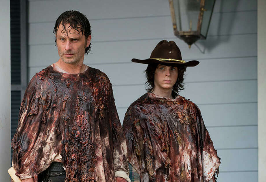 Andrew Lincoln and Chandler Riggs, The Walking Dead   Photo Credits: Gene Page/AMC / © 2015 AMC Film Holdings LLC.
