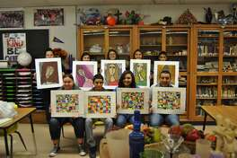 Several Hart High School art students entered artwork in the Panhandle-South Plains Fair in Lubbock beginning Sept. 1. According to teacher Juanetta Bocko, the students' artwork included Modigliana portraits with chalk pastels. Hart exhibitors include Marissa Mendez (back left), first place; Michelle Salinas; Celestina Salazar; Esperanza Salazar, second place; Damian Minjarez; Adriana Rodriguez (front left): Alejandro Gonzalez, third place; Kirston Diego, honorable mention; Albert Macias and Damien Ayala (not shown).