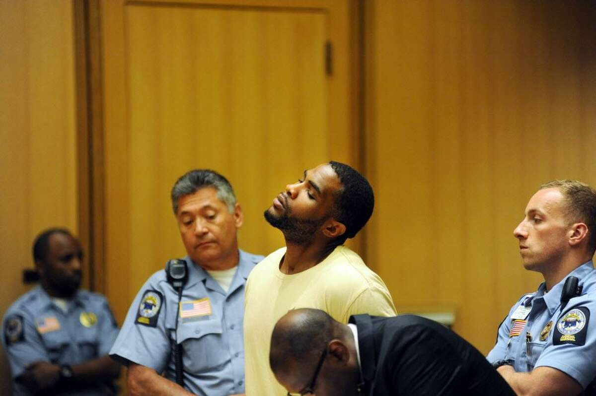 FILE - Dayron Wills was arraigned on five counts each of first-degree assault with a firearm, first degree reckless endangerment, unlawful discharge of a firearm, and possession of marijuana in Stamford, Conn. on Monday July 14, 2014.