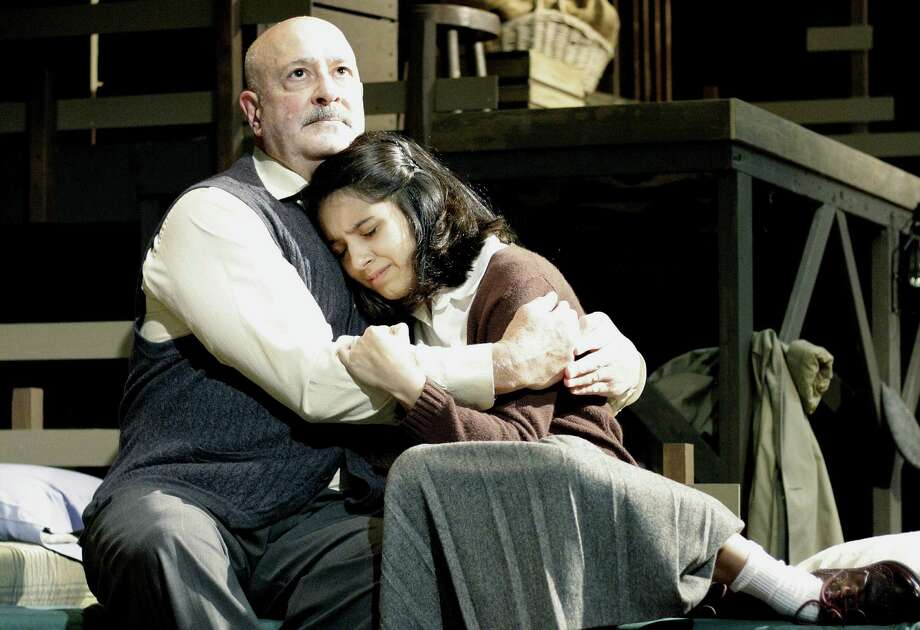 "Jim Mammarella and Jessica Salazar play father and daughter in the Sheldon Vexler Theatre's stating of ""The Diary of Anne Frank."" Photo: Courtesy Allison Cornwell"