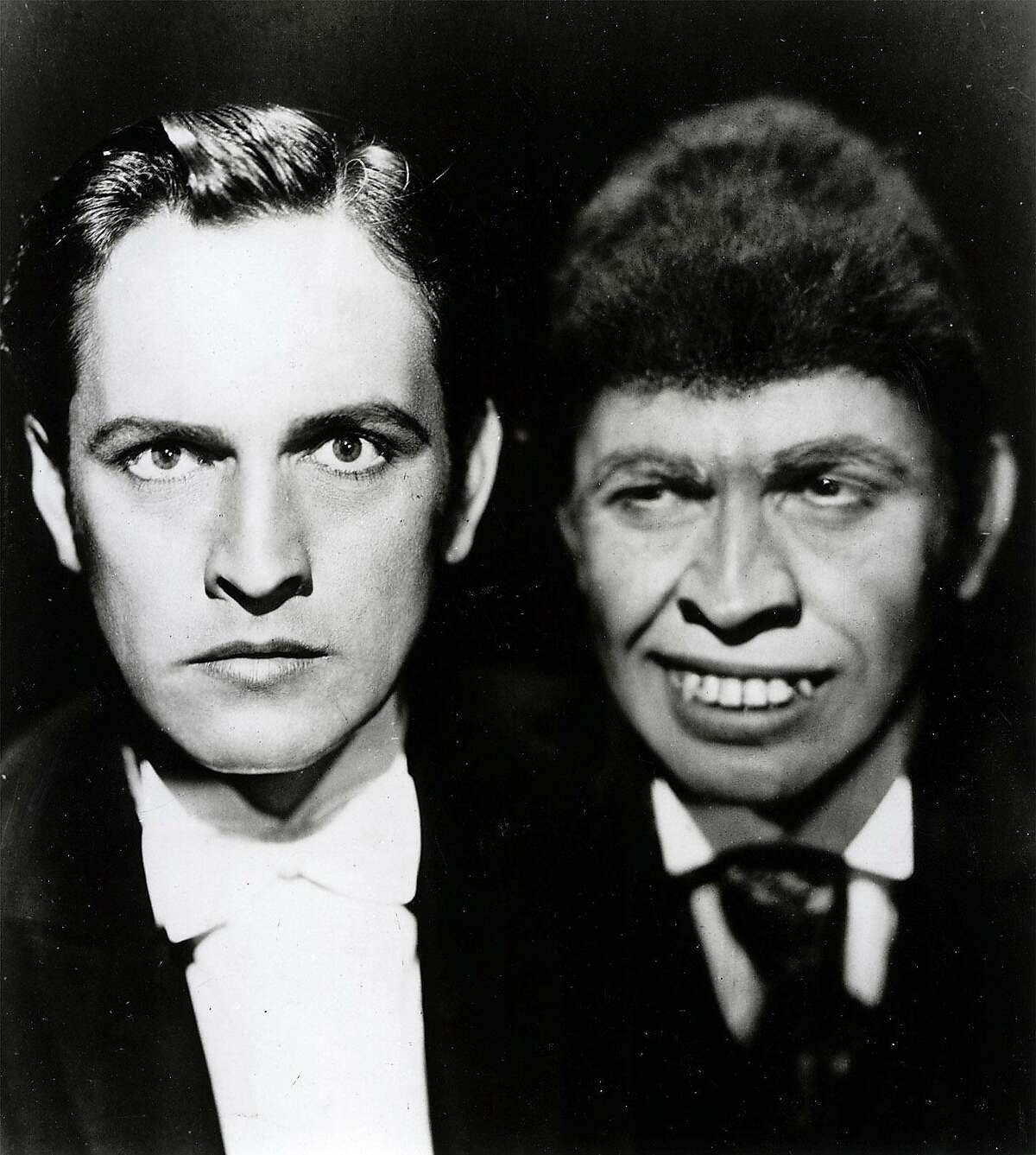 """OSCAR24A-B-23MAR01-DB-HO Fredric March in the classic film """"Dr. Jekyll and Mr. Hyde. Ran on: 11-02-2005 Cary Grant and Mae West broke new ground in She Done Him Wrong (1933)."""
