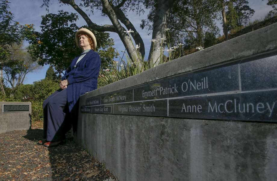 Susan Piper, on Wednesday October 19, 2016, a fire survivor and chair of the Oakland Fire Safe Council, at the Firestorm Memorial Garden she and her husband created after the 1991 Oakland Hills fire in Oakland, California. Photo: Michael Macor, The Chronicle
