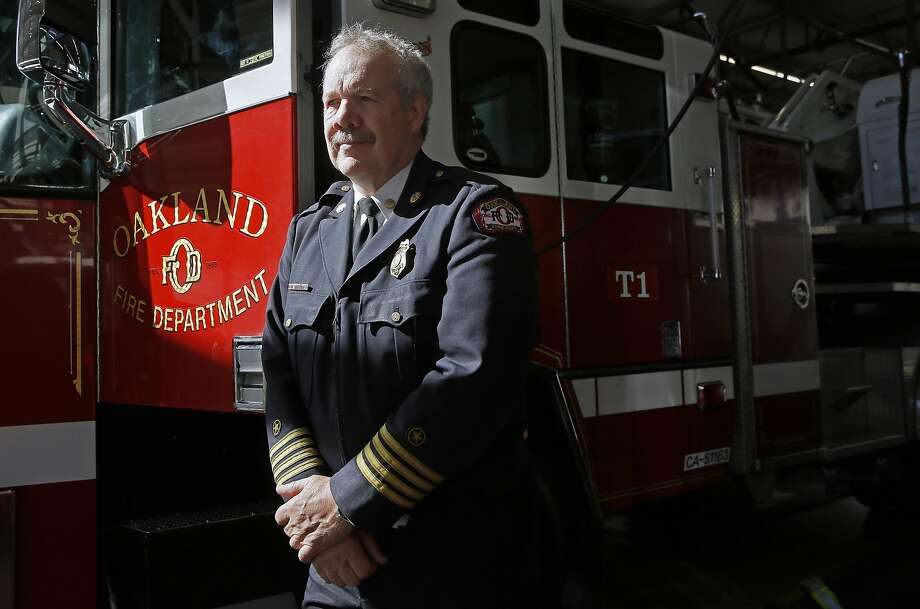 Oakland Deputy Fire Chief Mark Hoffman poses for a portrait at fire station 1 in downtown Oakland, California. on Wednesday October 19, 2016. Hoffman helped fight  the 1991 Oakland Hills fire. Photo: Michael Macor, The Chronicle