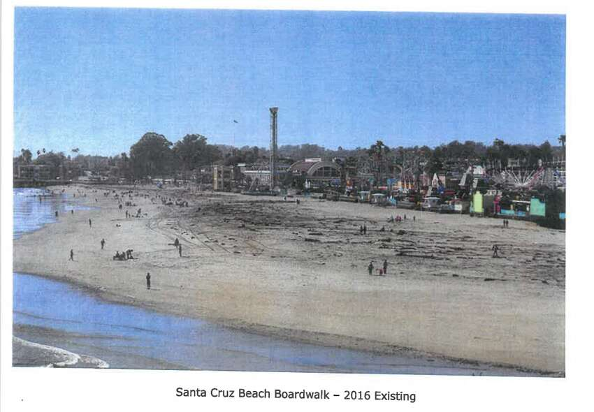 A view of the existing Santa Cruz Beach Boardwalk.
