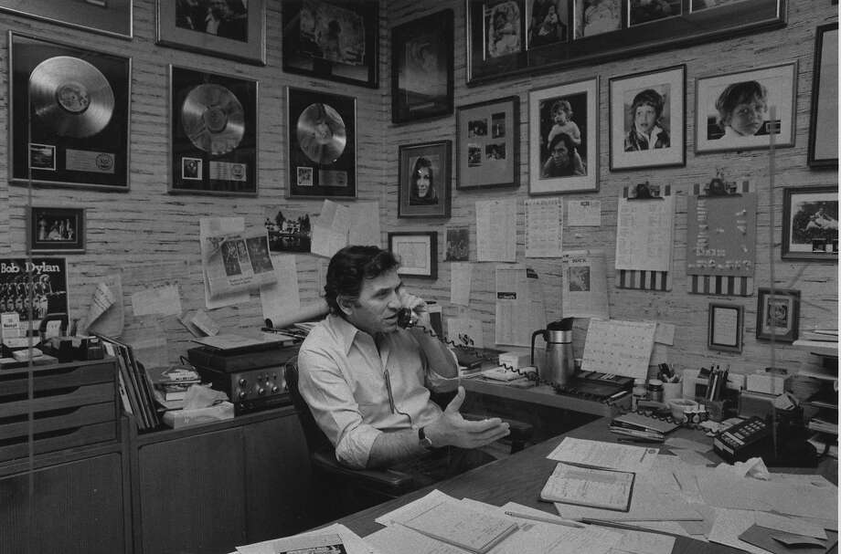 Bill Graham in his old office on January 30, 1980 Photo: Jerry Telfer, The Chronicle
