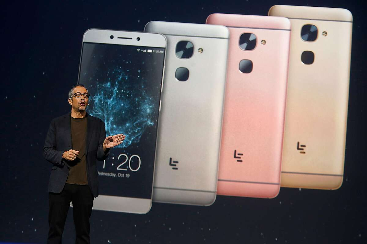 LeEco chief R&D officer Rob Chandhok talks about phone features on Wednesday, October 19,2016, in San Francisco, Calif.