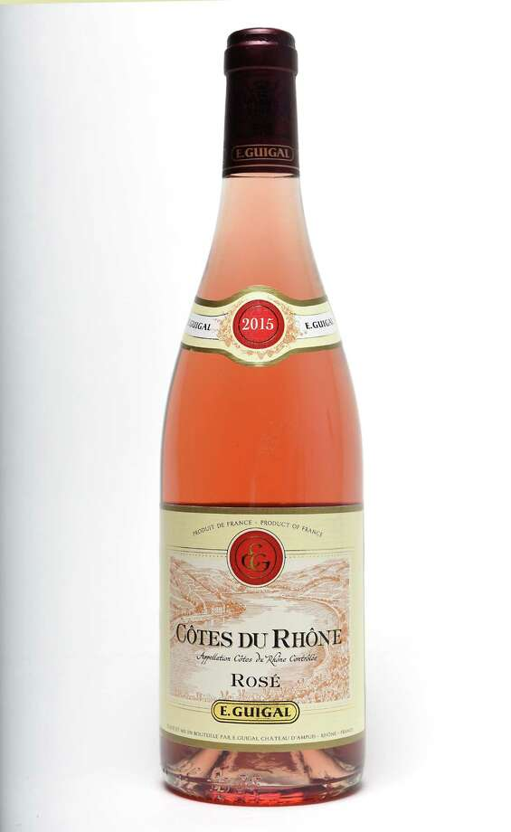 E. Guigal, Cotes Du Rhone Rose, France 2015,on Wednesday Aug. 3, 2016 in Menands, N.Y. (Lori Van Buren / Times Union) Photo: Lori Van Buren / 20037544A