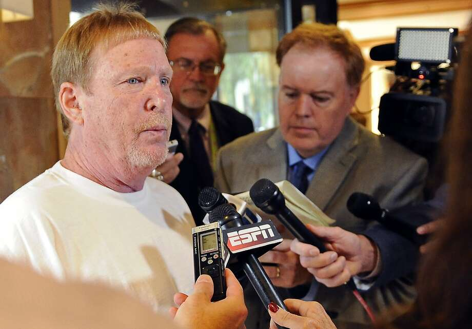 Oakland Raiders owner Mark Davis speaks to the media at the NFL fall meetings, Wednesday, Oct. 19, 2016, in Houston. (AP Photo/Eric Christian Smith) Photo: Eric Christian Smith, Associated Press