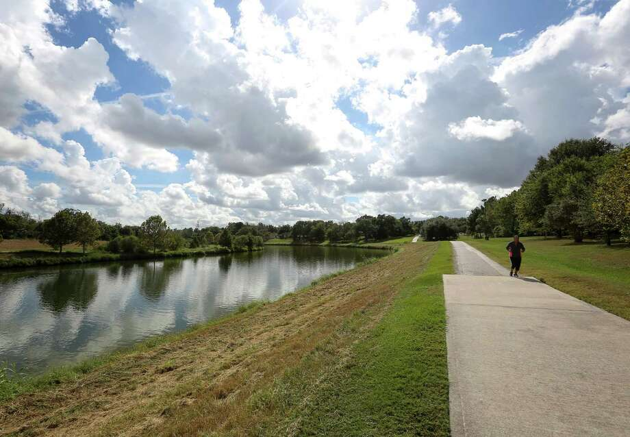 A proposed $5.9 million bike and pedestrian bridge in East Houston's Mason Park will allow visitors to safely cross Brays Bayou and better access trails.  Photo: Jon Shapley, Staff / © 2015  Houston Chronicle