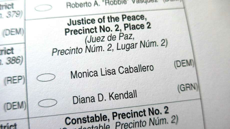 Nov. 8 ballots list Monica Caballero and Diana D. Kendall as candidates for Bexar County justice of the peace Precinct 2, Place 2. However, Commissioners Court has rescinded its order creating the court Jan. 1, 2017. Photo: John W. Gonzalez, Express-News Staff / John W. Gonzalez, Express-News Staff