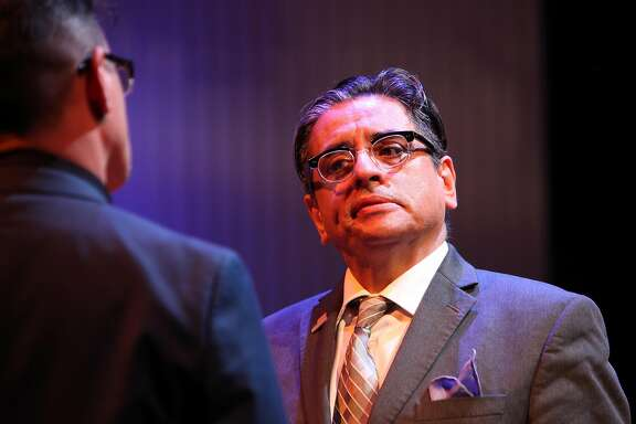 """Sean San Jos� and Richard Montoya�in """"Nogales,"""" a collaboration among Magic Theatre, Campo Santo and Borderlands Theater."""