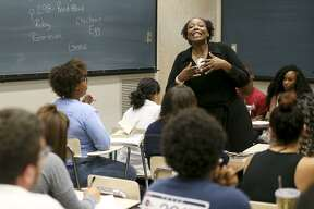 """UTSA professor Kinitra Brooks teaches a Beyoncé-themed course called """"Black Women, Beyoncé & Popular Culture,"""" which was making headlines around the world and the web on Sept. 30, 2016."""