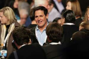 """Businessman Mark Cuban is seen before the final presidential debate at the Thomas & Mack Center on the campus of the University of Las Vegas in Las Vegas, Nevada on October 19, 2016. Democrat Hillary Clinton and rival Donald Trump face off in their last presidential debate on October 19, with the Republican candidate spiraling downward amid allegations of sexual misconduct and wild charges of a """"rigged"""" US election. / AFP PHOTO / POOL / joe raedleJOE RAEDLE/AFP/Getty Images"""