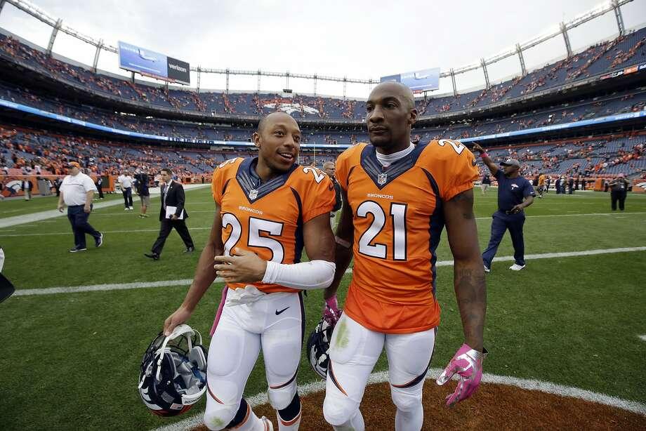 Texans at Broncos:McClain –  BroncosRobertson –  BroncosWilson –  BroncosSolomon –  BroncosSmith –  BroncosCreech –  Broncos Photo: Jack Dempsey, Associated Press
