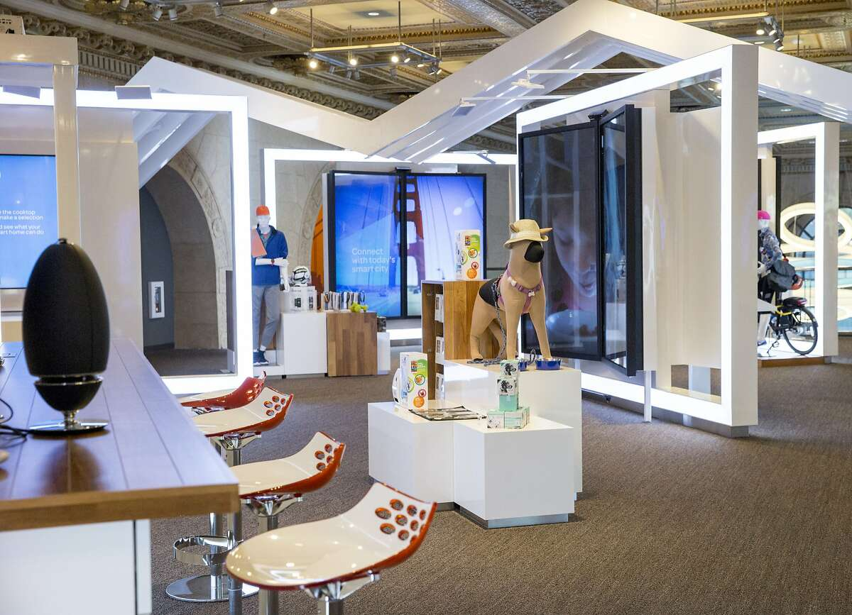 The second floor showroom at the new AT&T flagship retail store, Wednesday.