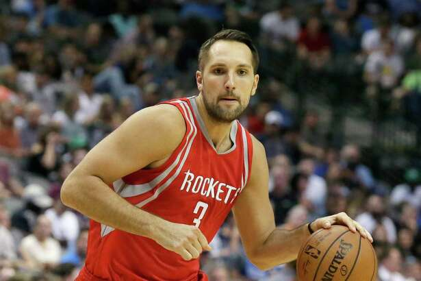 Houston Rockets forward Ryan Anderson (3) dribbles during the first half of an NBA preseason basketball game against the Dallas Mavericks Wednesday, Oct. 19, 2016, in Dallas. (AP Photo/LM Otero)