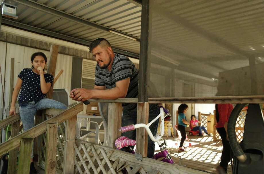 Luis Canelo and his family, seen on Oct. 19, 2016, were living at the Oak Hollow Mobile Home Park when 12 families had to be evacuated because of substandard living conditions. Photo: Ron Cortes /Special To The San Antonio Express-News