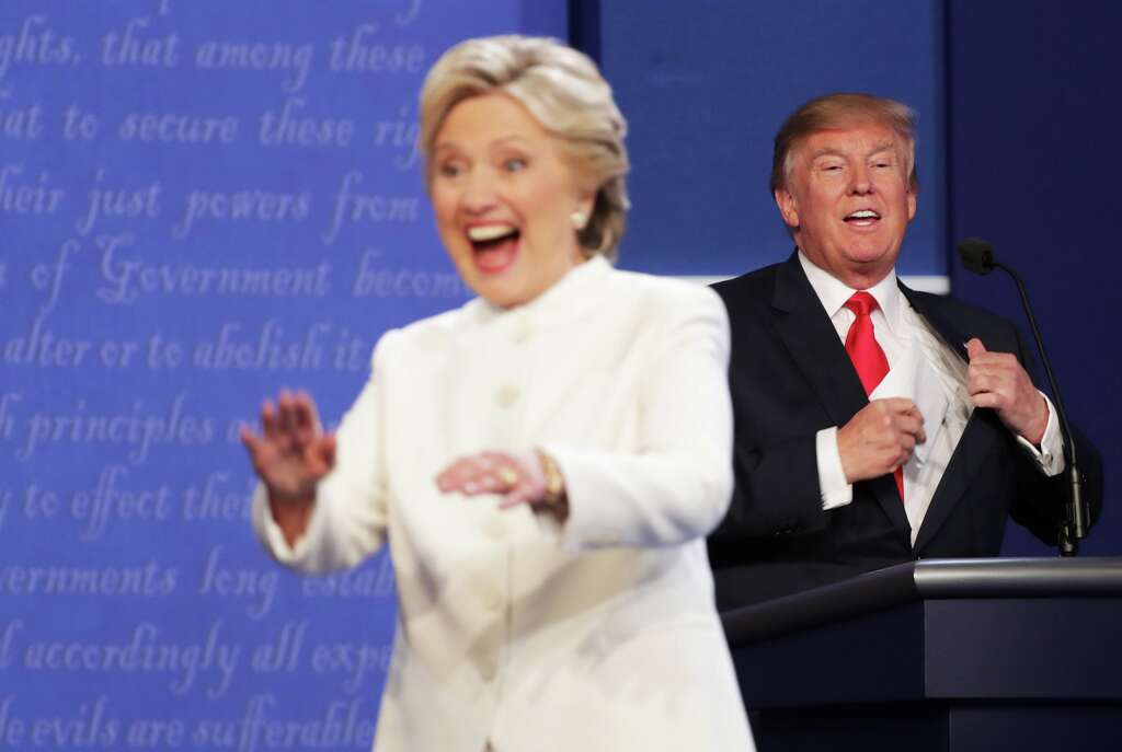 Image result for trump clinton 3rd debate