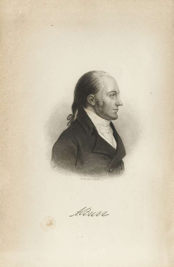 Aaron Burr. (Engraving by H. Wright Smith from the Life of Aaron Burr by J. Patron, NY:  Mason Brothers, 1859 Albany Institute of History & Art, SpC 920 BUR PAR 1859)