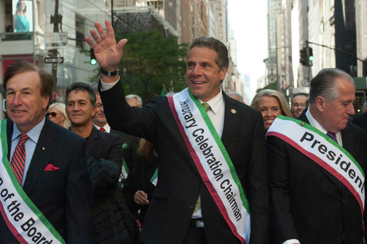 Gov. Andrew Cuomo participates in the annual Columbus Day Parade on October 10, 2016 in New York City. (Photo by Stephanie Keith/Getty Images)