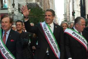 NEW YORK, NY - OCTOBER 10, 2016: Governor Andrew Cuomo participates in the annual Columbus Day Parade on October 10, 2016 in New York City. This is the 72nd Columbus Day Parade held in New York City. (Photo by Stephanie Keith/Getty Images) ORG XMIT: 675049277