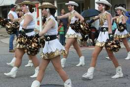 The Liberty Prancers march in the TVE Rodeo Parade on Wednesday, Oct. 19, in downtown Liberty.